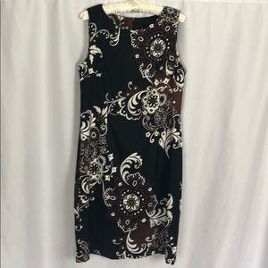 Connected Apparel Floral Shift Dress Size 12